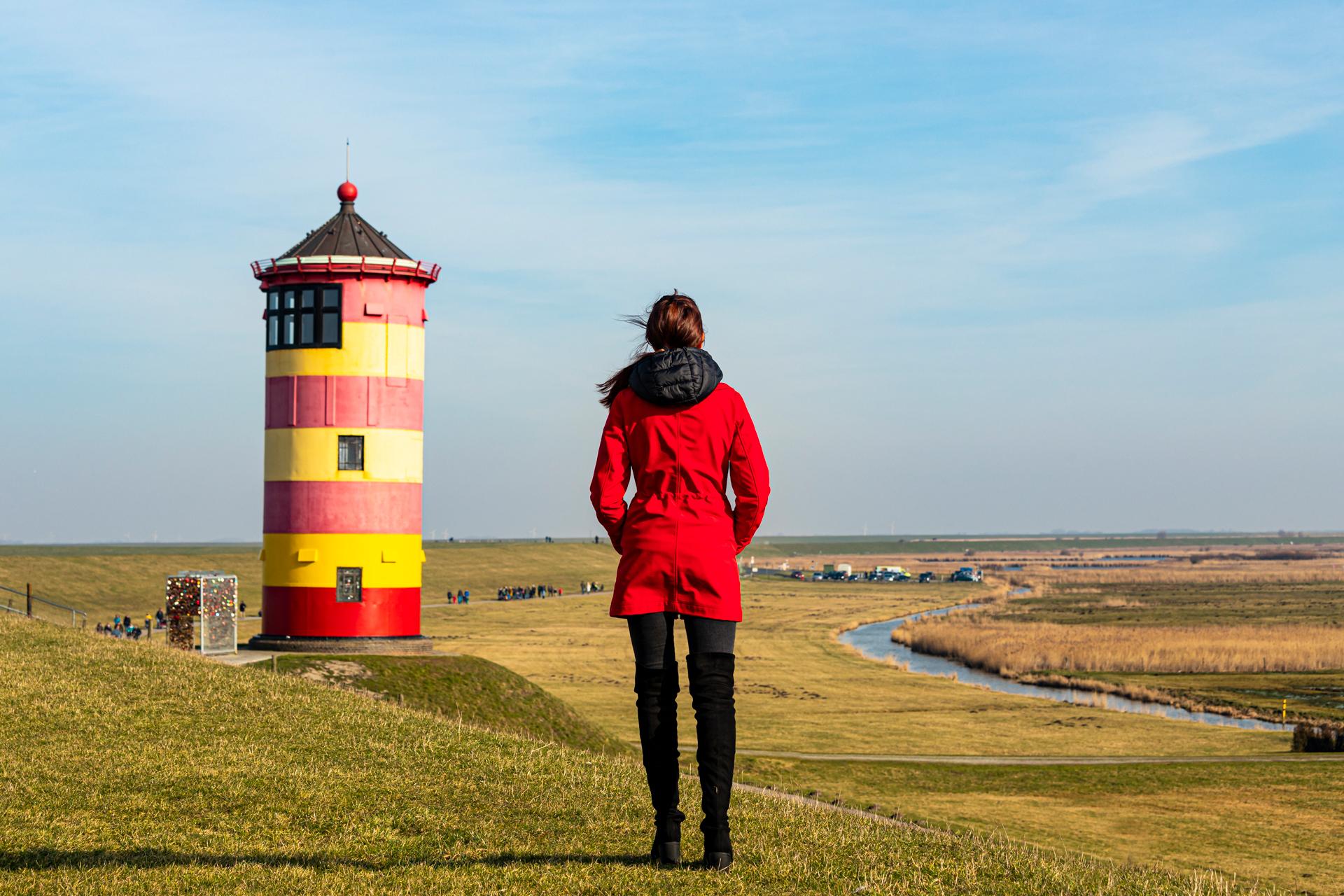 Ostfriesland 2019 Emden Pilsum Leuchtturm Nordsee